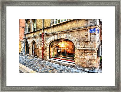 Old Town Of Lyon 4 Framed Print by Mel Steinhauer