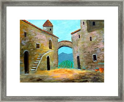 Old Town Of Tuscany Framed Print by Larry Cirigliano