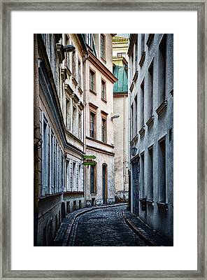 Old Town Street Framed Print by Gynt