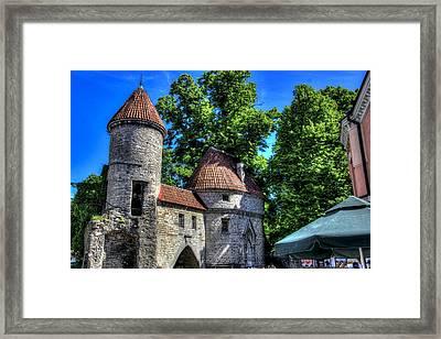 Old Town - Tallin Estonia Framed Print by Jon Berghoff