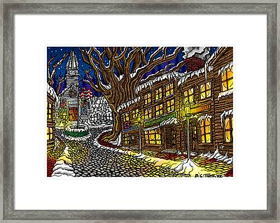 Old Town Framed Print by Thome Designs