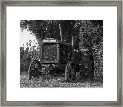 Old Tractor Framed Print by Amber Kresge
