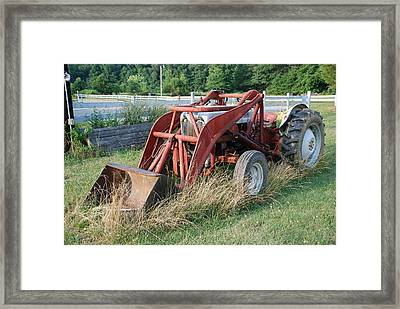 Old Tractor Framed Print by Jennifer Ancker