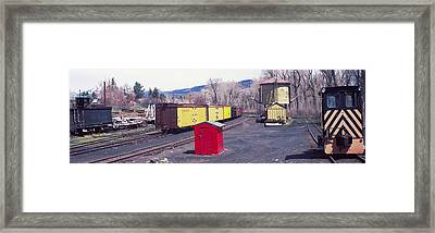Old Train Terminal, Chama, New Mexico Framed Print by Panoramic Images
