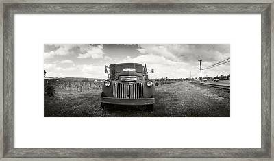 Old Truck In A Field, Napa Valley Framed Print by Panoramic Images