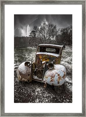 Old Truck In The Smokies Framed Print by Debra and Dave Vanderlaan