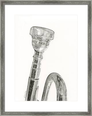 Old Trumpet Framed Print by Sarah Batalka