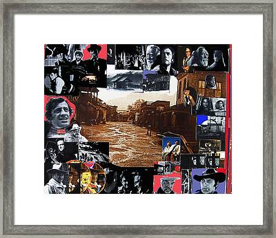 Old Tucson Arizona Composite Of Artists Performing There 1967-2012 Framed Print by David Lee Guss