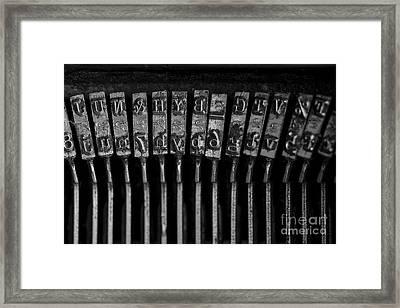 Old Typewriter Keys Framed Print by Edward Fielding