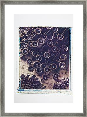 Old Typewriter Keys Framed Print by Garry Gay