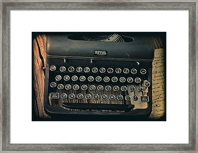 Old Typewriter With Letter Framed Print by Garry Gay