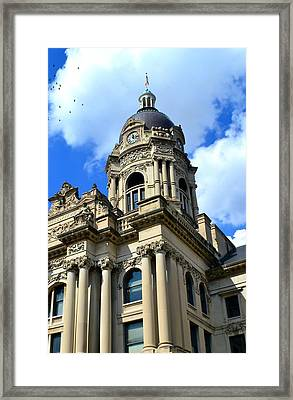 Old Vanderburgh County Courthouse Framed Print by Deena Stoddard