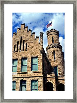 Old Vanderburgh County Jail Framed Print by Deena Stoddard
