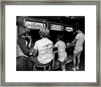 Old Video Game Fun Framed Print by Retro Images Archive
