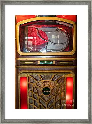 Old Vintage Packard Pla-mor Jukebox Dsc2770 Framed Print by Wingsdomain Art and Photography