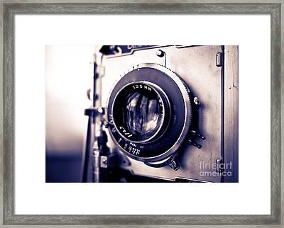 Old Vintage Press Camera  Framed Print by Edward Fielding
