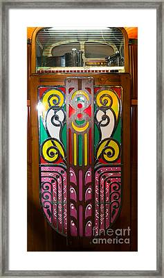Old Vintage Rock Ola Jukebox Dsc2792 Framed Print by Wingsdomain Art and Photography