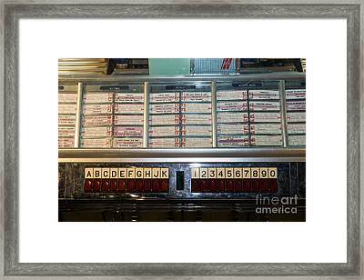 Old Vintage Seeburg Jukebox Dsc2753 Framed Print by Wingsdomain Art and Photography