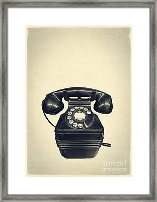 Old Vintage Telephone Framed Print by Edward Fielding