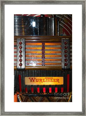 Old Vintage Wurlitzer Jukebox Dsc2706 Framed Print by Wingsdomain Art and Photography