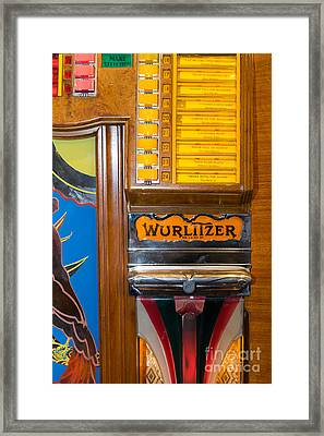 Old Vintage Wurlitzer Jukebox Dsc2780 Framed Print by Wingsdomain Art and Photography