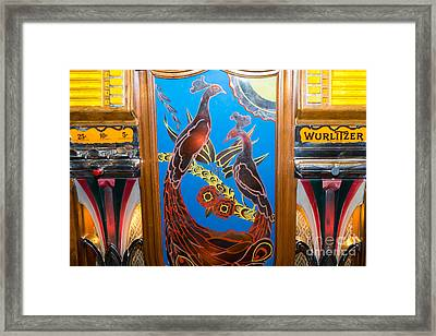 Old Vintage Wurlitzer Jukebox Dsc2781 Framed Print by Wingsdomain Art and Photography