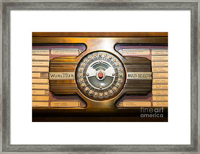 Old Vintage Wurlitzer Jukebox Dsc2813 Framed Print by Wingsdomain Art and Photography