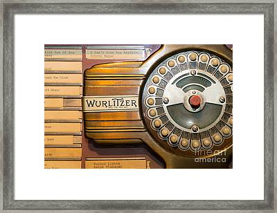 Old Vintage Wurlitzer Jukebox Dsc2814 Framed Print by Wingsdomain Art and Photography