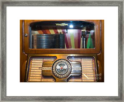 Old Vintage Wurlitzer Jukebox Dsc2815 Framed Print by Wingsdomain Art and Photography