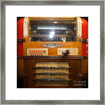 Old Vintage Wurlitzer Jukebox Dsc2816 Square Framed Print by Wingsdomain Art and Photography
