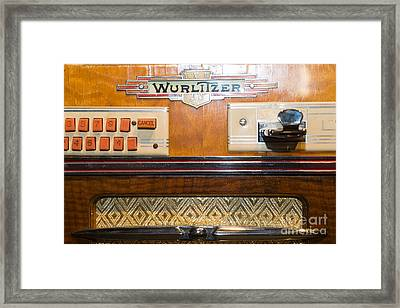 Old Vintage Wurlitzer Jukebox Dsc2818 Framed Print by Wingsdomain Art and Photography