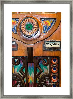 Old Vintage Wurlitzer Jukebox Dsc2819 Framed Print by Wingsdomain Art and Photography