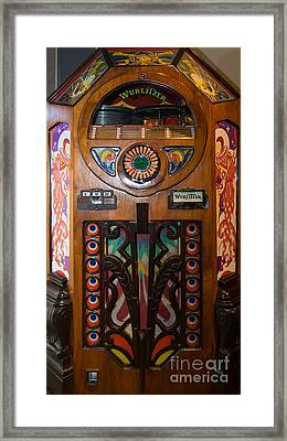Old Vintage Wurlitzer Jukebox Dsc2820 Framed Print by Wingsdomain Art and Photography