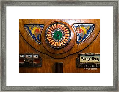 Old Vintage Wurlitzer Jukebox Dsc2822 Framed Print by Wingsdomain Art and Photography