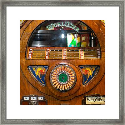 Old Vintage Wurlitzer Jukebox Dsc2824 Square Framed Print by Wingsdomain Art and Photography