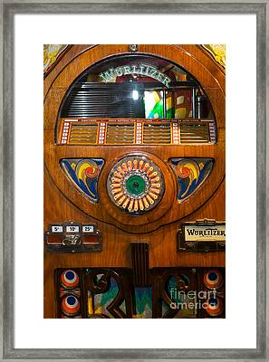 Old Vintage Wurlitzer Jukebox Dsc2824 Framed Print by Wingsdomain Art and Photography