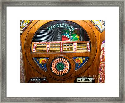 Old Vintage Wurlitzer Jukebox Dsc2825 Framed Print by Wingsdomain Art and Photography