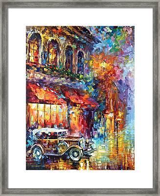 Old Vitebsk Part 1 - Left Framed Print by Leonid Afremov