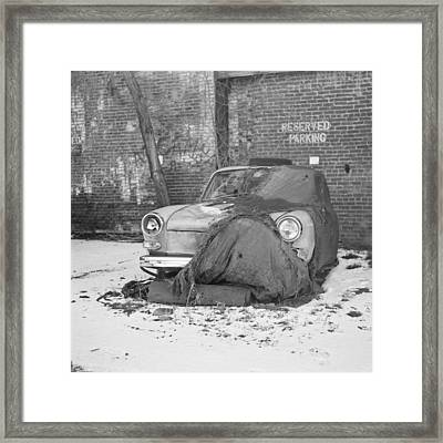 Old Vw Squareback Framed Print by Steve G Bisig