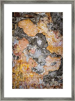Old Wall Abstract Framed Print by Elena Elisseeva