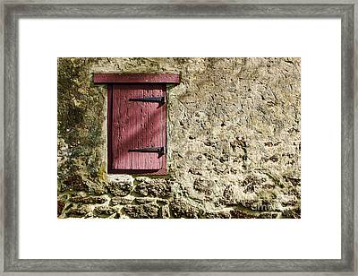 Old Wall And Door Framed Print by Olivier Le Queinec