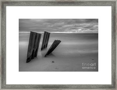 Old Walls Falling In Black And White Framed Print by Twenty Two North Photography