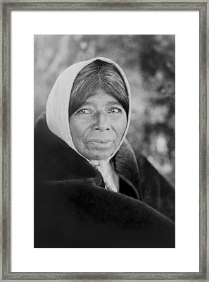 Old Wappo Woman Circa 1924 Framed Print by Aged Pixel