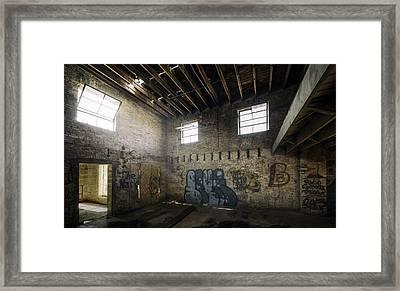 Old Warehouse Interior Framed Print by Scott Norris