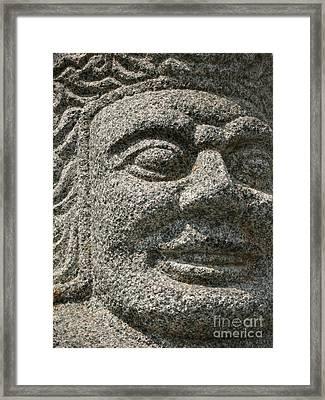 Old Warrior Sculpture Framed Print by Yali Shi
