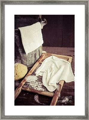 Old Washboard Framed Print by Edward Fielding