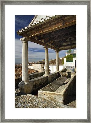 Old Washing In Granada Framed Print by Guido Montanes Castillo