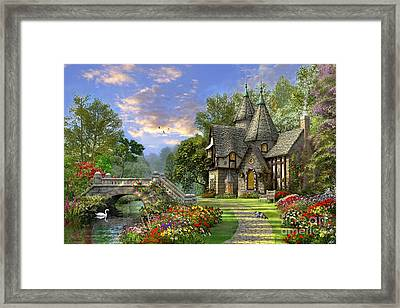 Old Waterway Cottage Framed Print by Dominic Davison