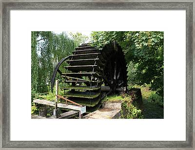 Old Waterwheel Framed Print by Aidan Moran