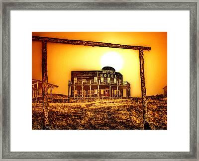 Old West At Dawn Framed Print by Andrea Lawrence